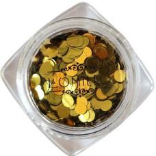 Komilfo паетки диско дизайн№001 золото