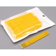 Микробраш для наращивания ресниц желтый 100 шт